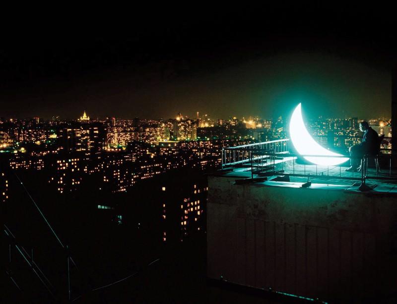 луна над городом  № 1456789  скачать