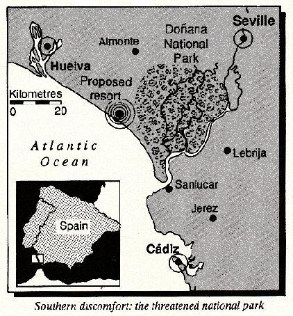 Threatend Spanish National Park, 1990