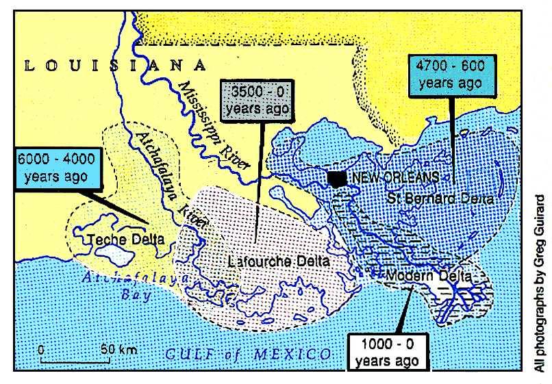 The shrinking Mississippi Delta