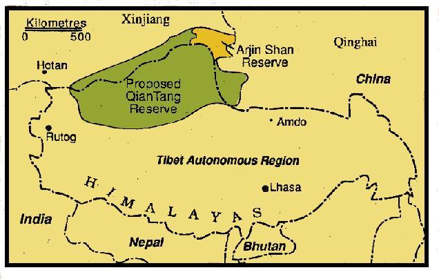 Qian Tany reserve, Tibet