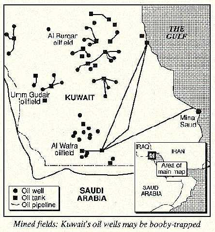 Kuwait's oil fields, 1991