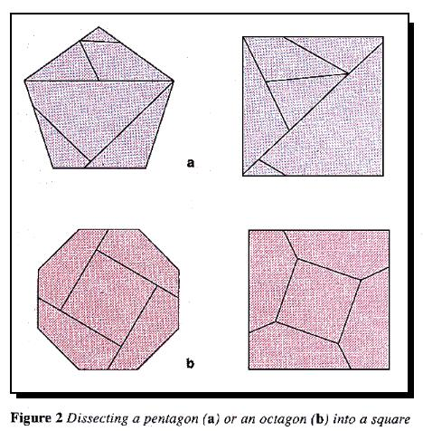 Dissecting a pentagon or octagon
