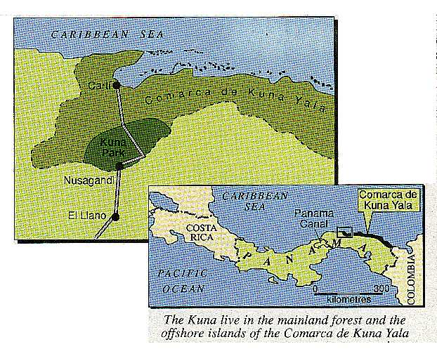 The Kuna land, Panama