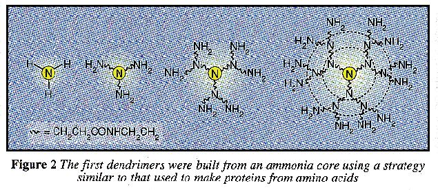 Building dendrimers from ammonia