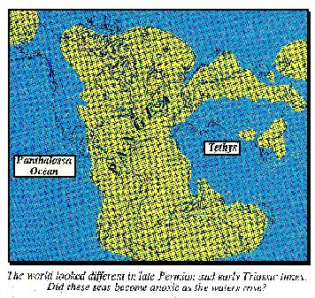 Late Permian, early Triassic world