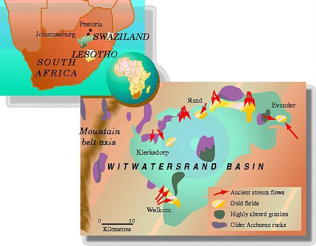 South African gold field terrain