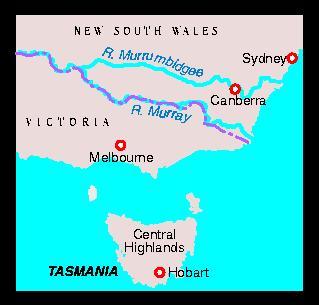 Carp territory in Australia & Tasmania