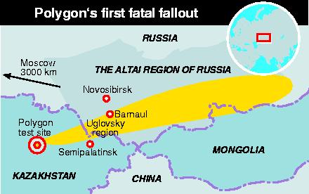 Russia's first nuclear bomb fallout in Siberia