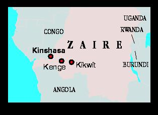 Location of Ebola virus; Zaire