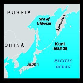 Location map of Kuril Islands
