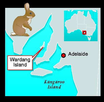 Location map of Wardang Island, Australia