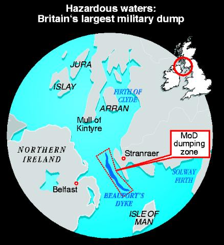 Location of Britain's largest military dump