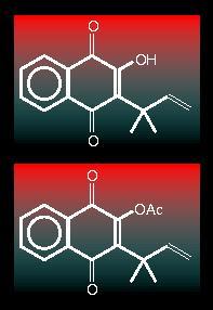 Naphthoquinone structures
