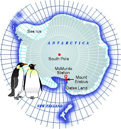 Map of McMurdo Station, Antarctica