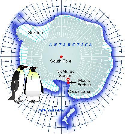 Map of McMurdo Station, Antarctica