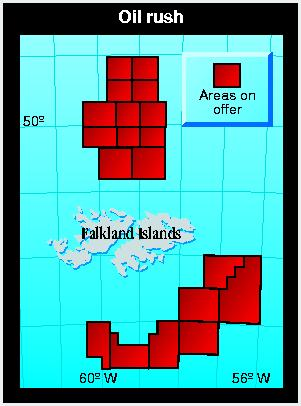 Possible oil prospecting areas