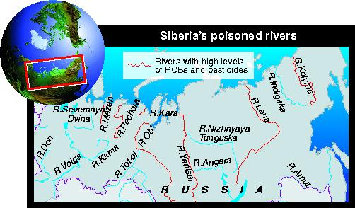 Poisoned rivers, in Siberia.