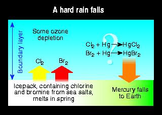 Mercury rainfall.