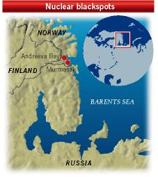 Location map showing Andreeva Bay