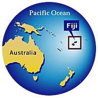Location of Fiji Islands
