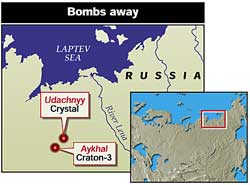 Radioactive threat to the Arctic from Russian mining with nuclear bombs