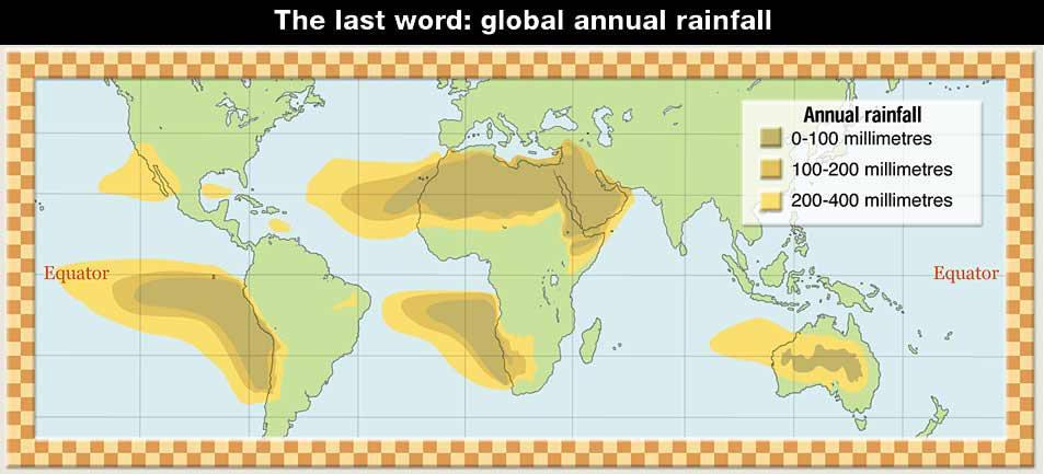 Last word: global annual rainfall