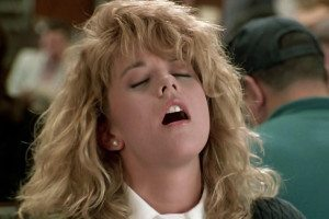 Meg Ryan in the famous scene from when Harry Met Sally
