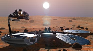 An artist's impression of Beagle 2 exploring the surface of Mars  (Photo: All Rights Reserved Beagle 2)