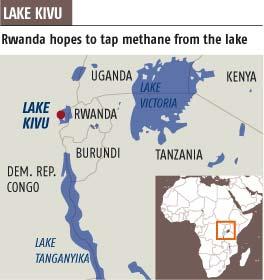 Chock-full of methane, Lake Kivu stores enough energy to power all of Rwanda