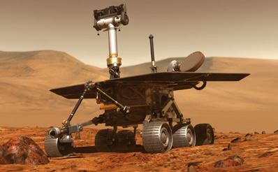 The twin rovers will roam up to 40 metres accross the surface of Mars each day