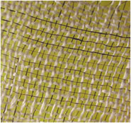 Half the threads in this textile are black carbon nanotube threads