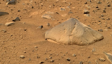 Spirit will deploy all its scientific instruments on the angular rock