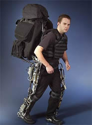 The Berkeley Lower Extremity Exoskeleton can be used to carry an extra 32 kilograms