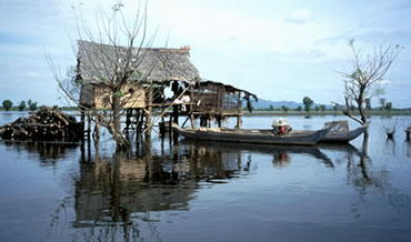 Fishing is a way of life on the the Tonle Sap, a tributary of the Mekong