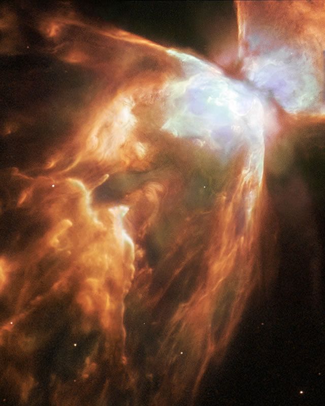 The nebula is 4000 light years from Earth. Click for full image