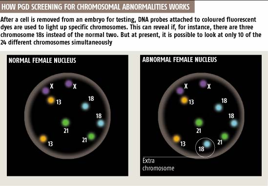 How PGD screening for chromosomal abnormalities works