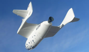 SpaceShipOne is the first operational space vehicle made entirely of carbon composite