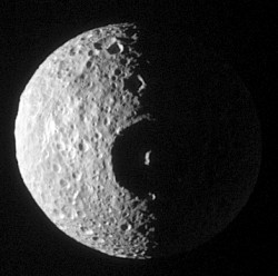 Mimas only just survived the impact that created its enormous crater
