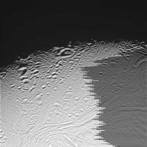 Enceladus's centre may be in turmoil, causing the craters on its surface to slump