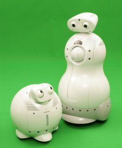 ApriAlpha and ApriAttenda, are autonomous assistants designed to keep elderly people company or young children occupied