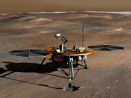 Phoenix will use a 2-metre-long robot arm to dig into the icy soil