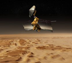 The orbiter will glide close to the Red Planet's surface to scout out future landing sites