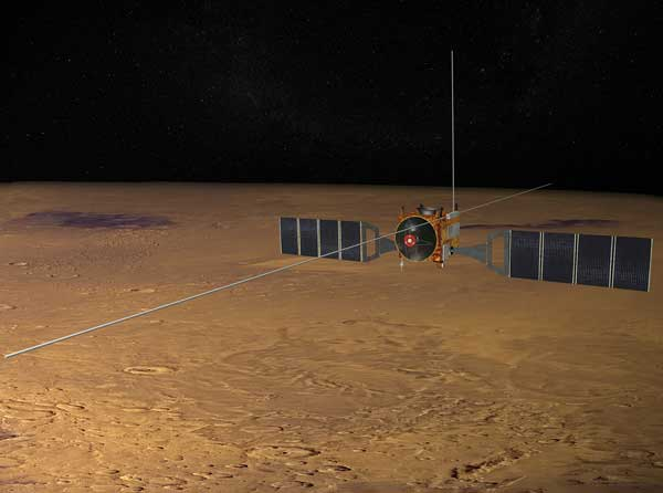 MARSIS can only operate for about 20 minutes when the spacecraft comes closest to Mars during its elliptical, six-hour orbit