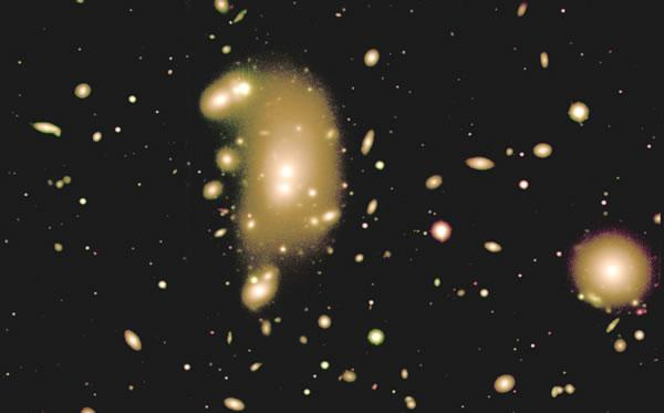 The largest galaxies in crowded clusters such as Abell 3266 died long ago, perhaps because black holes