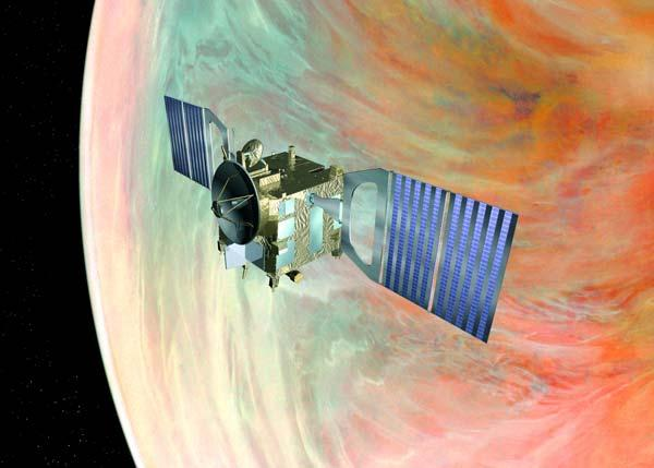 Venus Express will scan for active volcanism, hinted at by the presence of sulphuric acid in the atmosphere, but never seen
