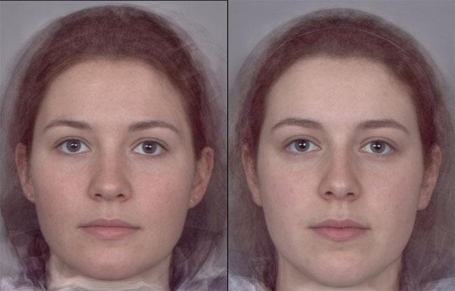 These are the computer-generated composite face of the 10 women with highest and lowest levels of oestrogen - which do you find more attractive? Answers at the end of the story