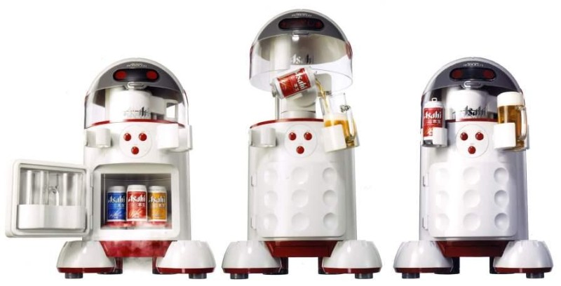 Asahi's beer-bot will open and pour a drink at the push of a button