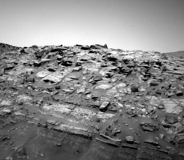 Home Plate is the best example of layering yet seen at Gusev Crater