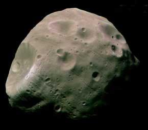 Phobos, the shadow-caster (G Neukum/ESA/DLR/FU Berlin)