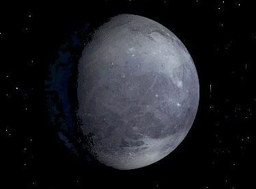 Pluto is too far from Earth for its surface to have been imaged in detail – this picture is an artist's impression